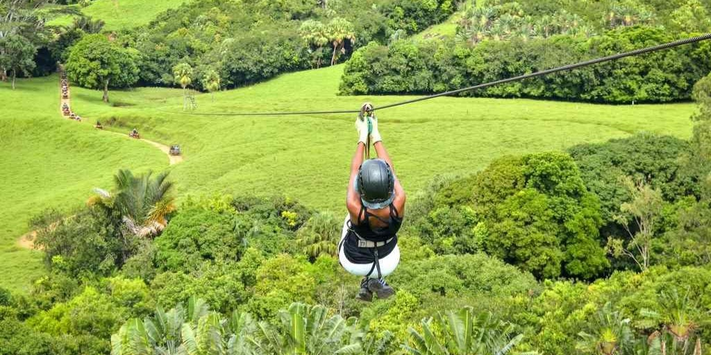 Giant Zip Lines at Domaine de L'etoile
